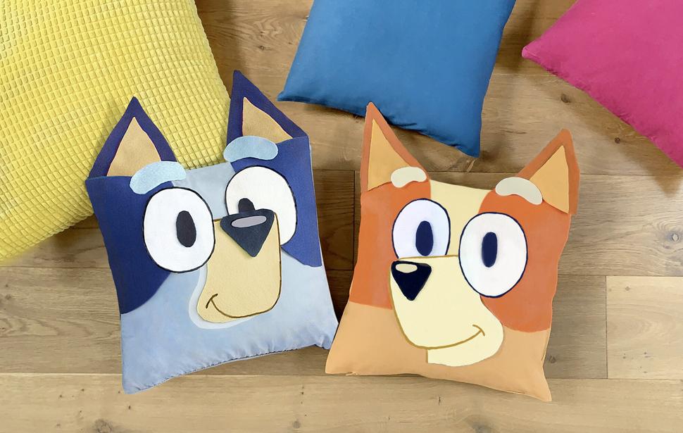 Bluey & Bingo Cushions - 970 x 615px